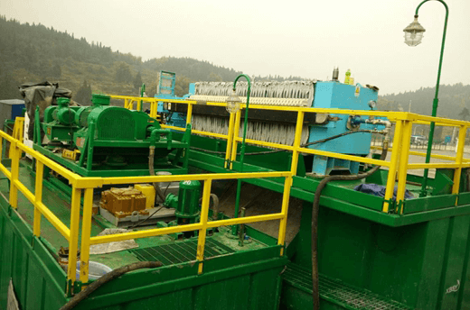water based mud drilling cuttings unit application-onsite-picture