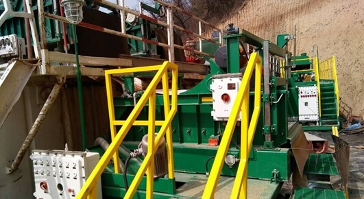 Water based mud drilling cuttings unit onsite picture show